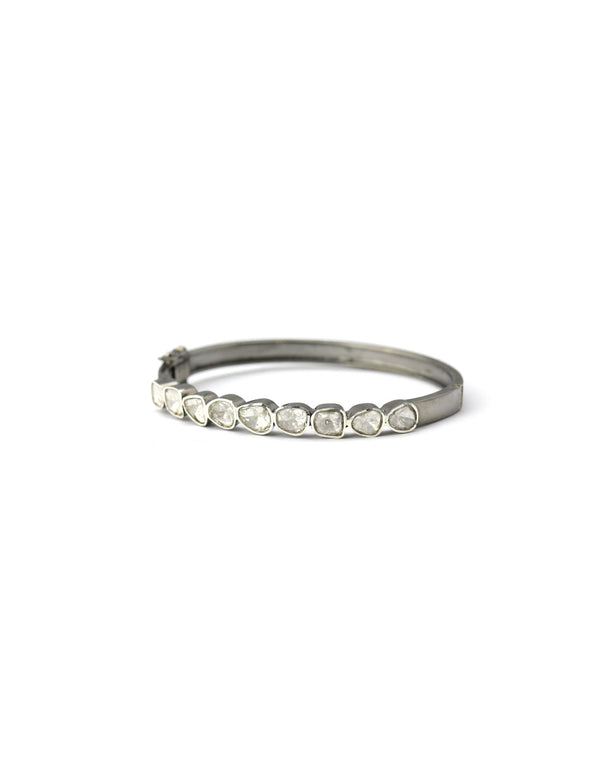 Polki Diamond Oval Bangle
