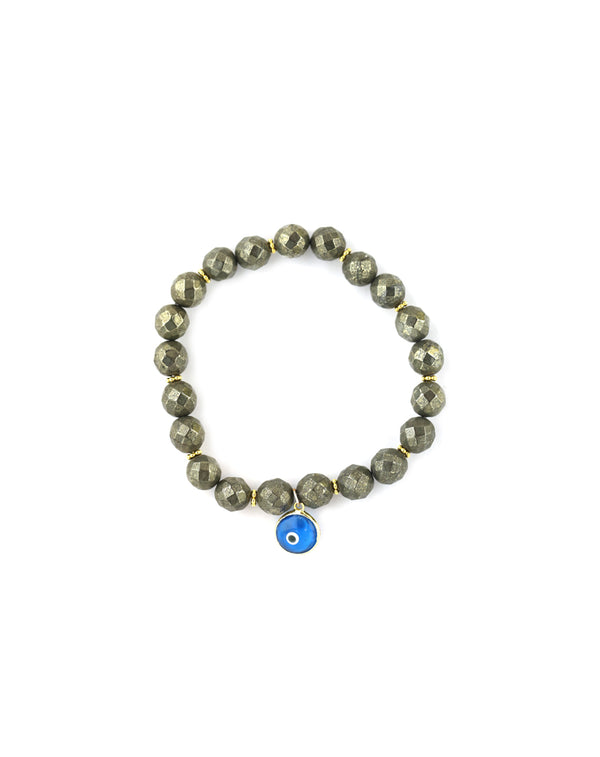 Pyrite Turkish Evil Eye Charm Stretchy