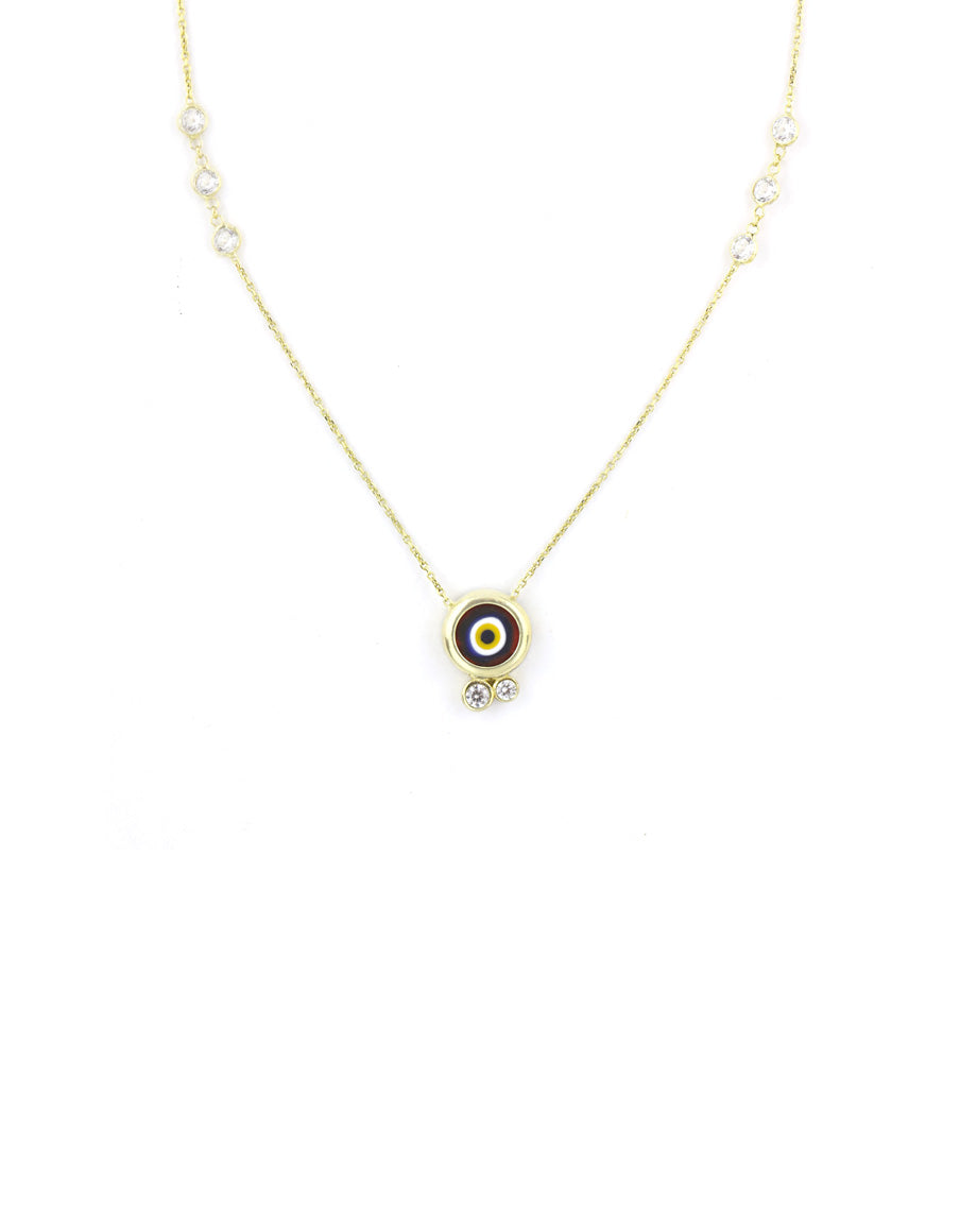 Red Glass Evil Eye Necklace