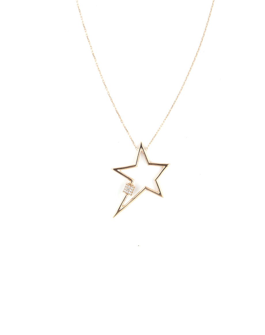 Rose Gold Star Carabiner Necklace
