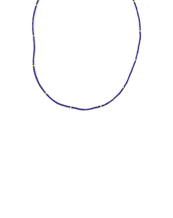 Tiny Lapis Gold Necklace
