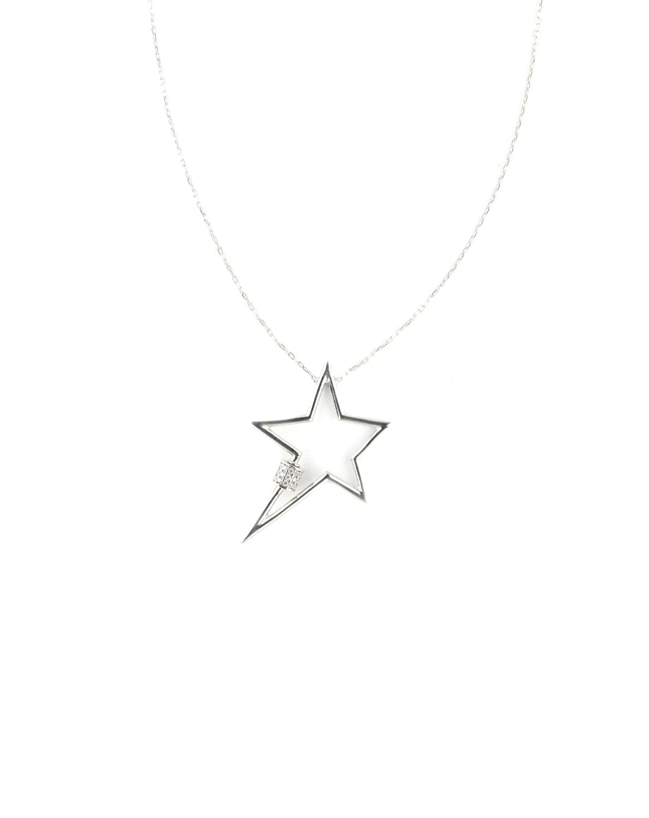 Silver Star Carabiner Necklace