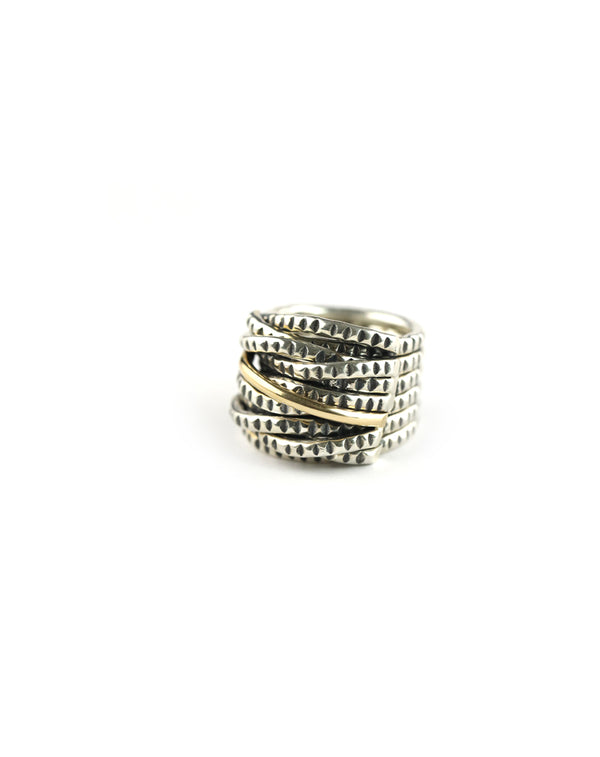 Silver & Gold Multi Band Ring
