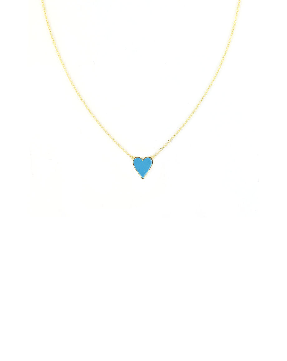 Simple Small Turquoise Heart Necklace