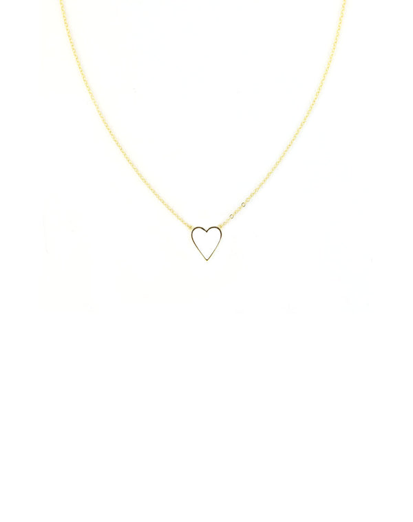 Simple Small White Heart Necklace