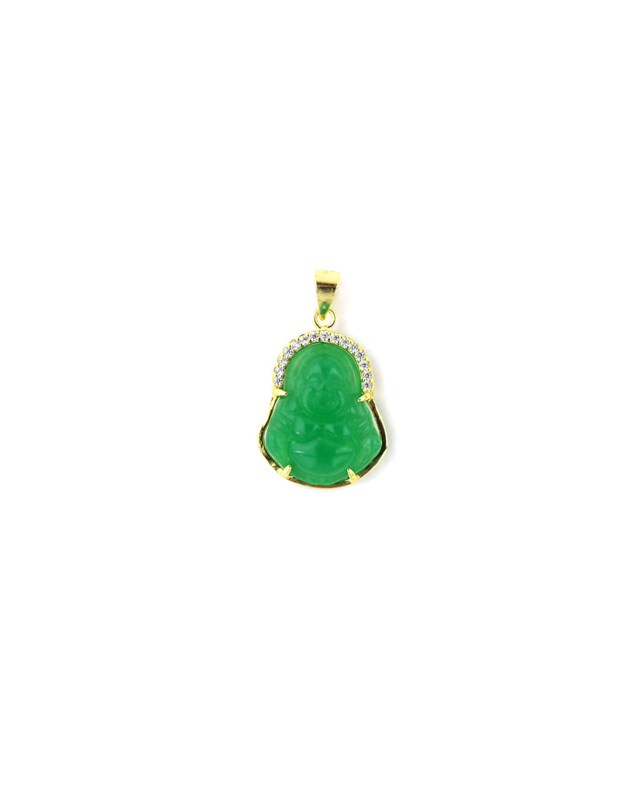 Small Green Halo Buddha Charm