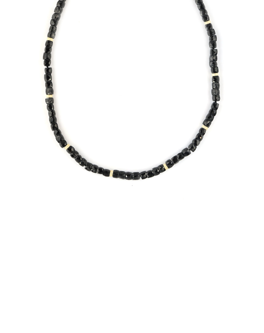 Square Black Onyx Summer Luxe Necklace