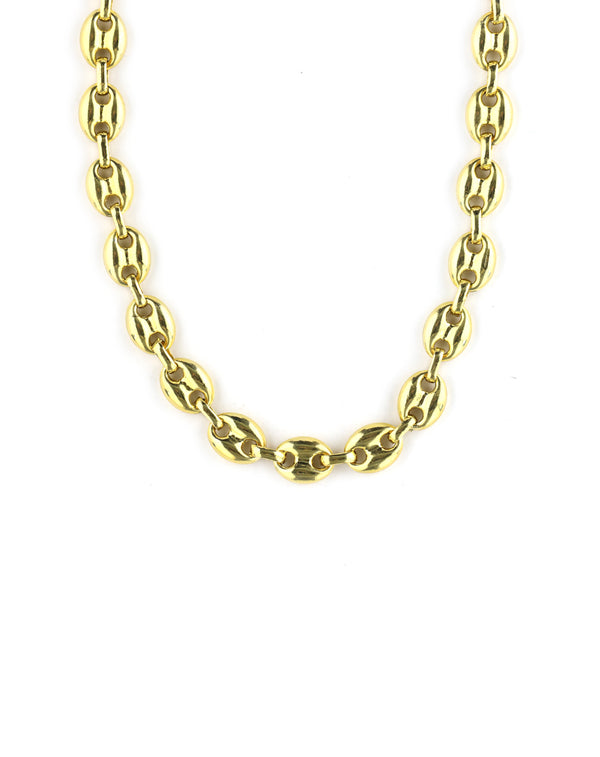 Thick Gold Anchor Chain Necklace
