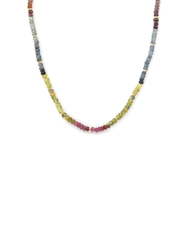 Colorful Tourmaline Gemstone Necklace