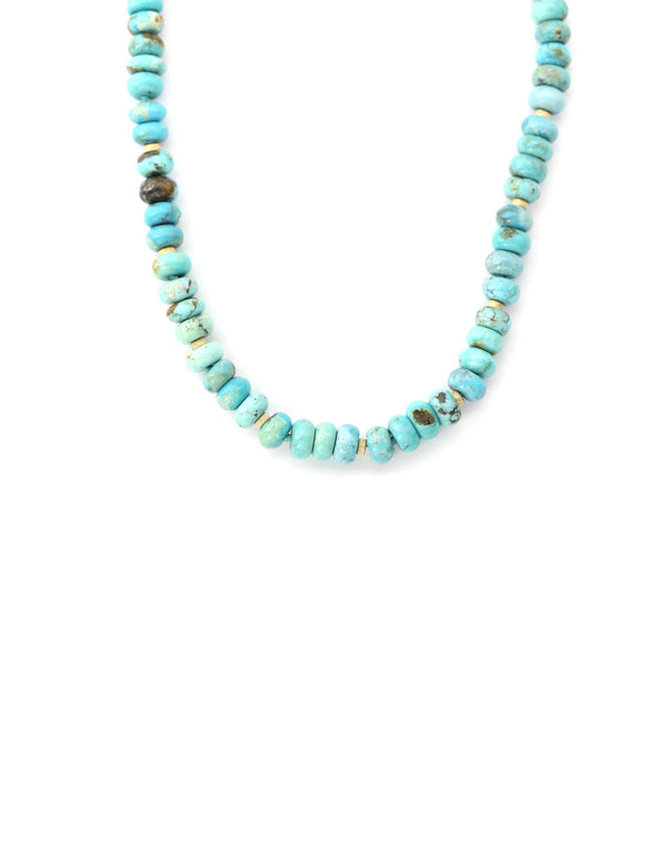 Rondelle Turquoise Chunky Necklace