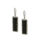 Landa Slab Earrings: Black Onyx