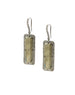 Landa Slab Earrings: Pyrite