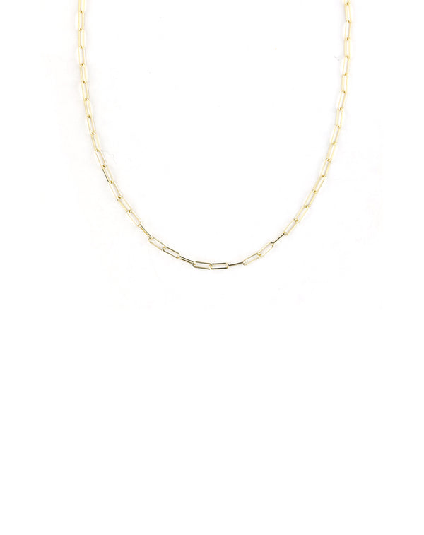 XS 14K Gold Paper Clip Chain
