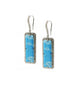 Landa Slab Earrings: Turquoise