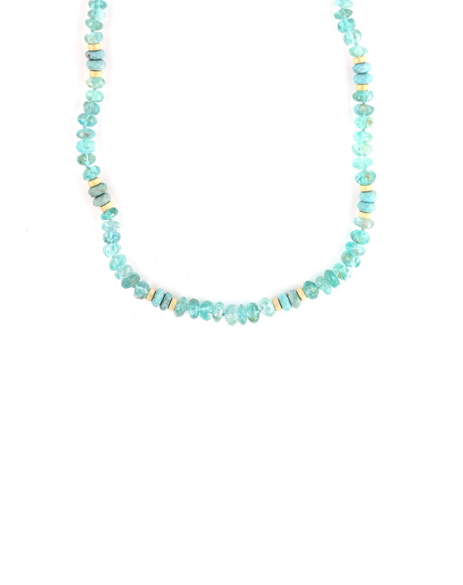 Apatite Turquoise Beaded Necklace