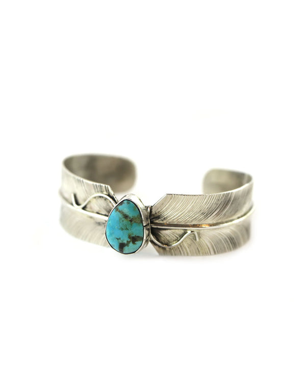 Byron Begay Feather Kingman Turquoise Cuff