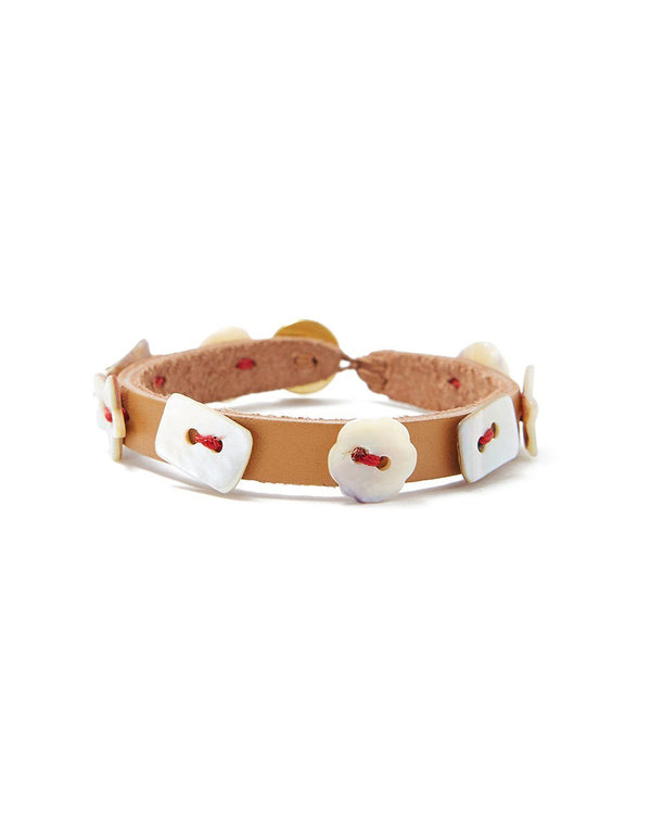Chan Luu Shell Leather Bracelet