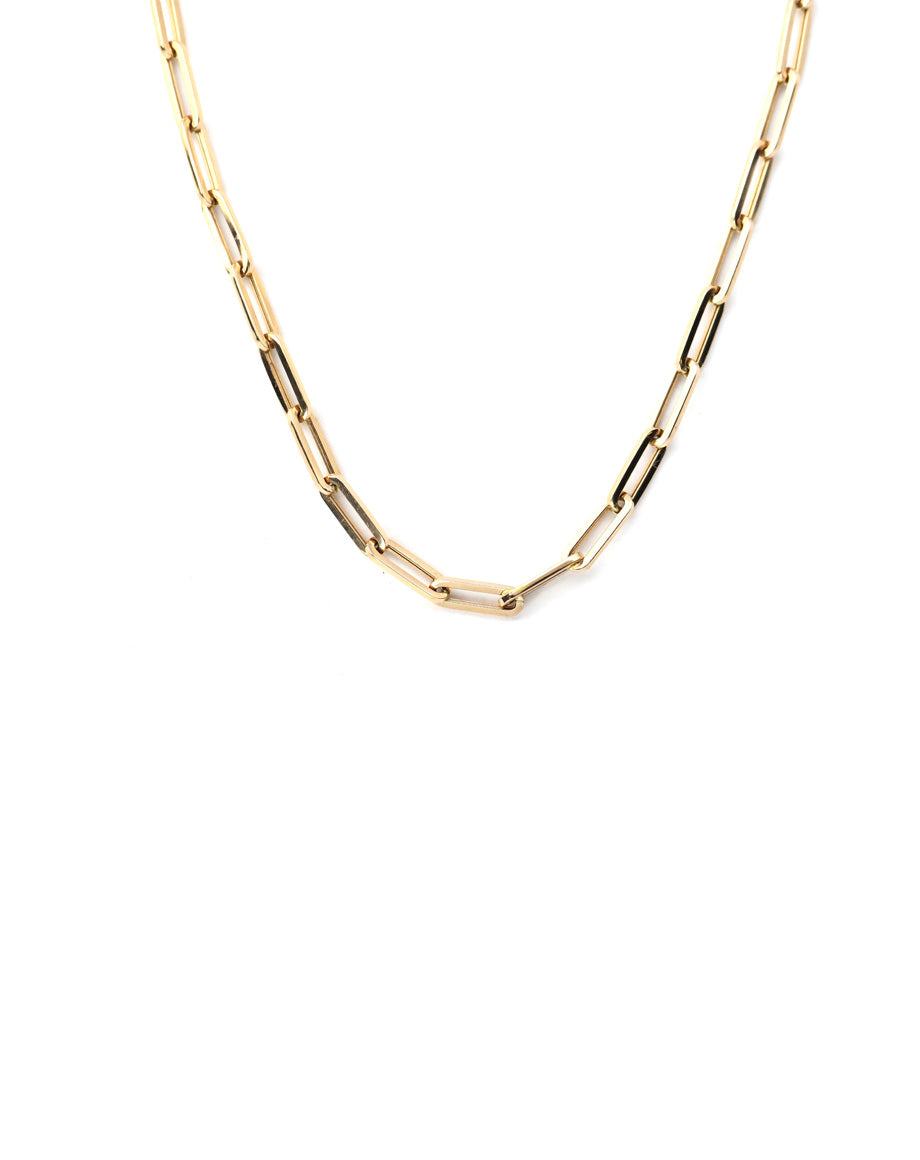 14K Rose Gold Thick Paper Clip Chain