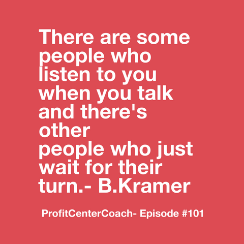 "E101- Social Square 12"" x 12"" Inspirational Canvas Wall Hanging - ""There are some people who listen to you when you talk and there's other people who just wait for their turn"" - B Kramer"