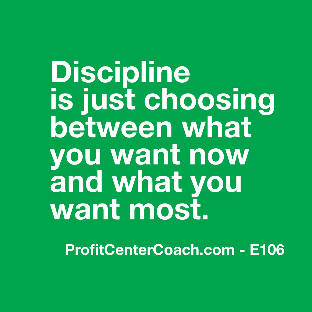"E106- Social Square 12"" x 12"" Inspirational Canvas Wall Hanging - ""Discipline is just choosing between what you want now and what you want most."""