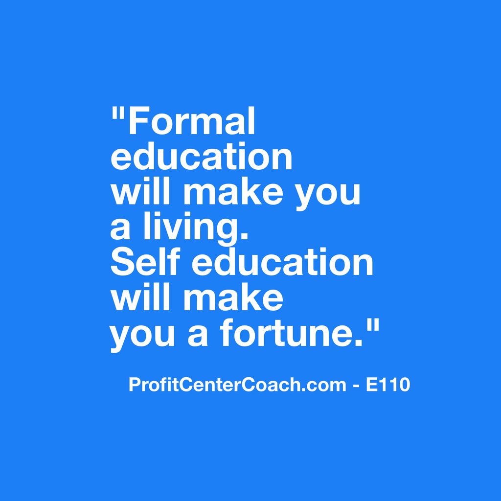 "E110 - Social Square 12"" x 12"" Inspirational Canvas Wall Hanging - ""Formal education will make you a living.  Self education will make you a fortune."""