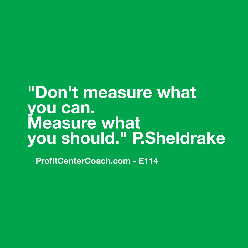 "E114 - Social Square 12"" x 12"" Inspirational Canvas Wall Hanging - ""Don't measure what you can. Measure what you should."" PSheldrake"