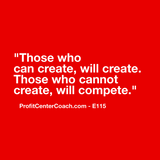"E115 - Social Square 12"" x 12"" Inspirational Canvas Wall Hanging - ""Those who can create, will create. Those who cannot create, compete."""