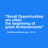 "E116 - Social Square 12"" x 12"" Inspirational Canvas Wall Hanging - ""Small Opportunities are often the Beginning of Great Achievements"""