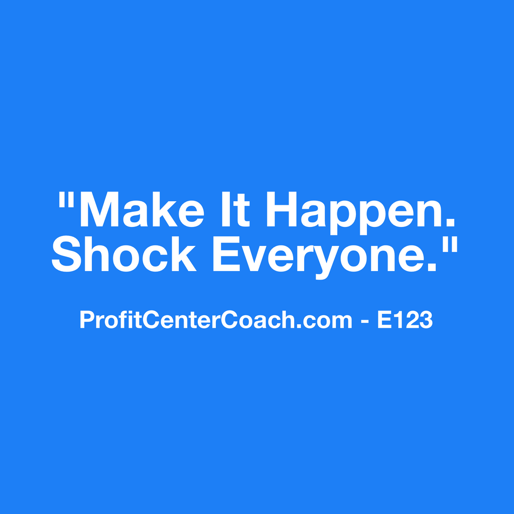 "E123 - Social Square 12"" x 12"" Inspirational Canvas Wall Hanging -""Make it Happen. Shock Everyone."""