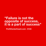 "E124 - Social Square 12"" x 12"" Inspirational Canvas Wall Hanging - ""Failure is not the opposite of success, it is a part of success."""