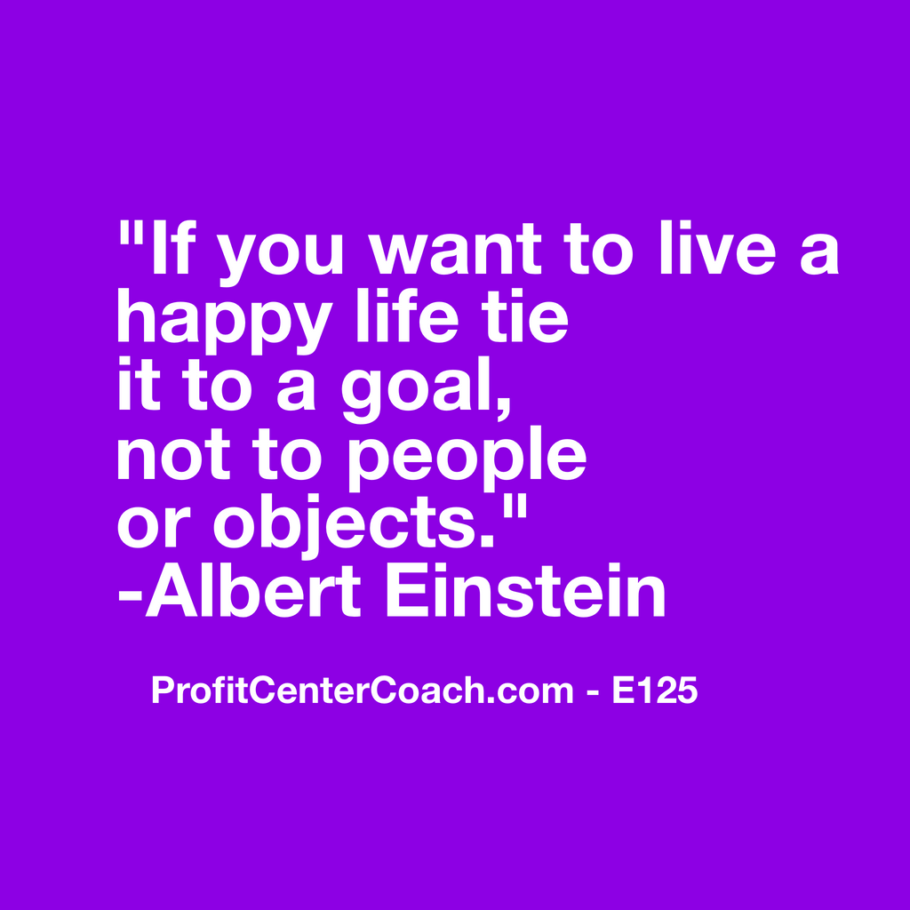 "E125 - Social Square 12"" x 12"" Inspirational Canvas Wall Hanging -""If you want to live a happy life tie it to a goal, not to people or objects"" Albert Einstein"