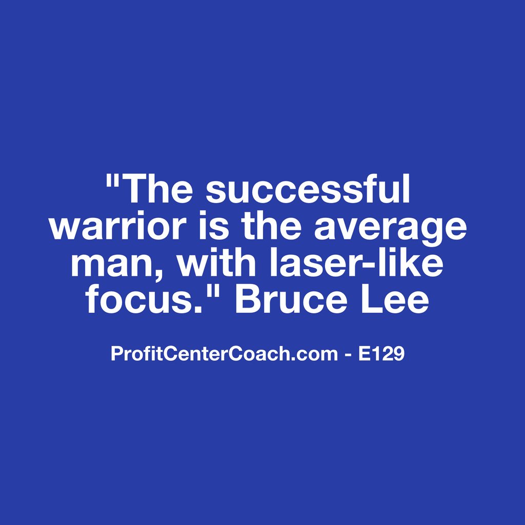 "E129 - Social Square 12"" x 12"" Inspirational Canvas Wall Hanging - ""The successful warrior is the average man, with laser-like focus"" Bruce Lee"