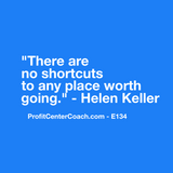 "E134 - Social Square 12"" x 12"" Inspirational Canvas Wall Hanging - ""There are no shortcuts to any place worth going."" – Helen Keller"