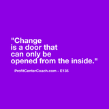 "E135 - Social Square 12"" x 12"" Inspirational Canvas Wall Hanging - ""Change is a door that can only be opened from the inside."""