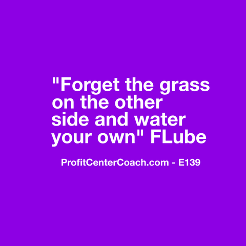 "E139 - Social Square 12"" x 12"" Inspirational Canvas Wall Hanging - ""Forget the grass on the other side and water your own."" FLube"