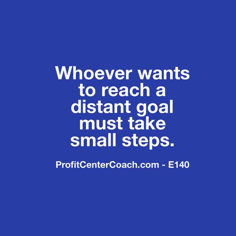 "E140 - Social Square 12"" x 12"" Inspirational Canvas Wall Hanging -""Whoever wants to reach a distant goal must take small steps."""