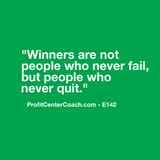 "E142 - Social Square 12"" x 12"" Inspirational Canvas Wall Hanging - ""Winners are not people who never fail, but people who never quit."""