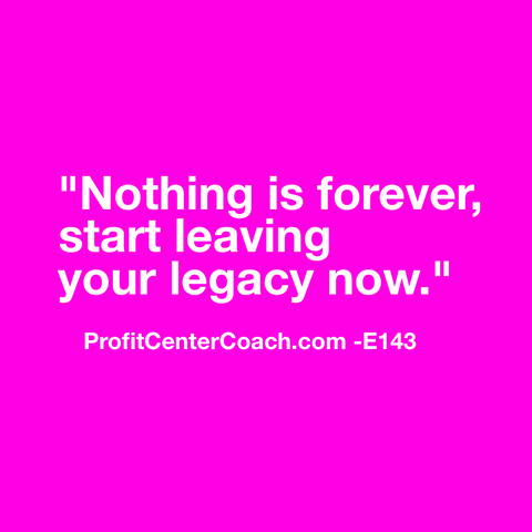 "E143 - Social Square 12"" x 12"" Inspirational Canvas Wall Hanging - ""Nothing is forever, start leaving your legacy now."""