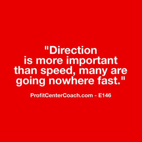 "E146 - Social Square 12"" x 12"" Inspirational Canvas Wall Hanging - ""Direction is more important than speed, many are going nowhere fast."""