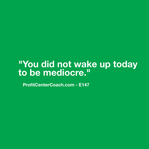 "E147 - Social Square 12"" x 12"" Inspirational Canvas Wall Hanging - ""You did not wake up today to be mediocre."""