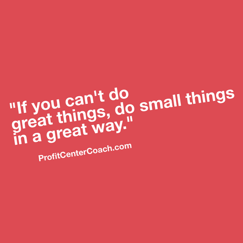 "E151 - Social Square 12"" x 12"" Inspirational Canvas Wall Hanging - ""If you can't do great things, do small things in a great way."""