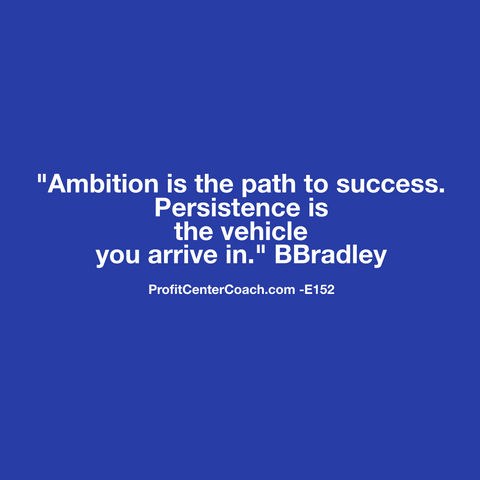 "E152 - Social Square 12"" x 12"" Inspirational Canvas Wall Hanging - ""Ambition is the path to success. Persistence is the vehicle you drive in."" BBradley"