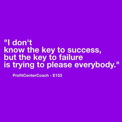 "E153 - Social Square 12"" x 12"" Inspirational Canvas Wall Hanging - ""I don't know the key to success, but the key to failure is trying to please everybody."""