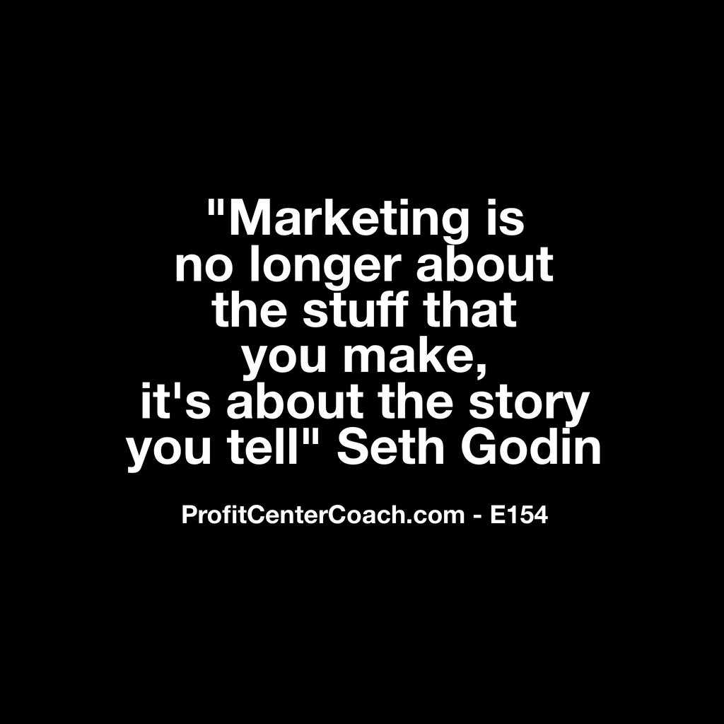 "E154 - Social Square 12"" x 12"" Inspirational Canvas Wall Hanging - ""Marketing is no longer about the stuff you make, it's about the story you tell"" Seth Godin"
