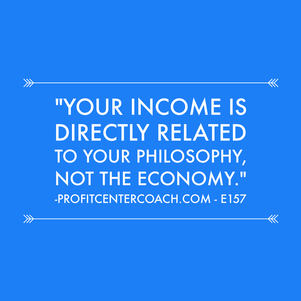 "E157 - Social Square 12"" x 12"" Inspirational Canvas Wall Hanging - ""Your income is directly related to your philosophy, NOT the economy."""