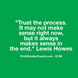 "E158 - Social Square 12"" x 12"" Inspirational Canvas Wall Hanging - ""Trust the process.  It may not make sense right now, but it always makes sense in the end."" Lewis Howes"