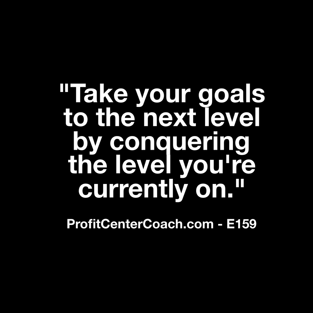"E159 - Social Square 12"" x 12"" Inspirational Canvas Wall Hanging - ""Take your goals to the next level by conquering the level you're currently on."""