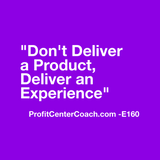 "E160 - Social Square 12"" x 12"" Inspirational Canvas Wall Hanging - ""Don't deliver a product, deliver an experience."""