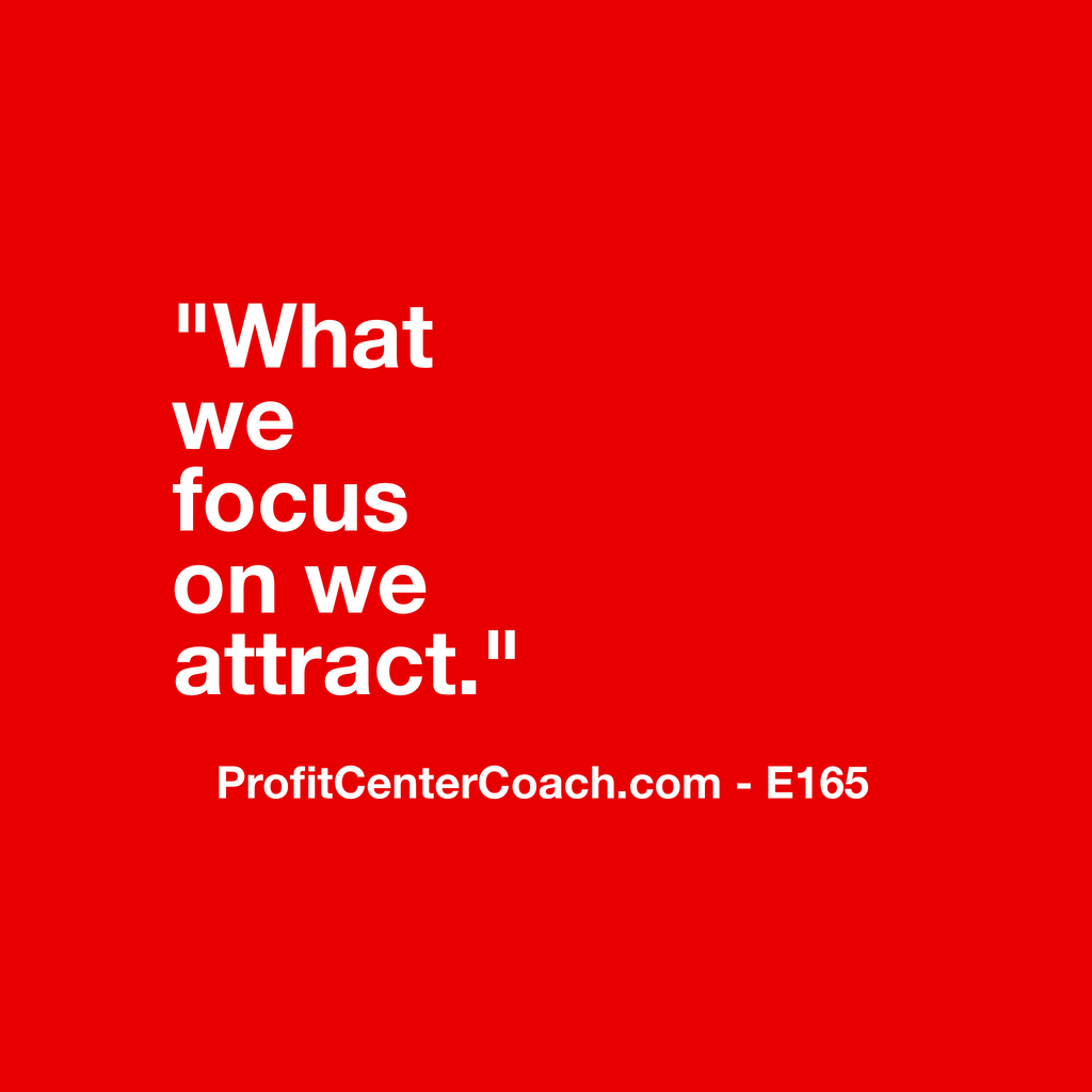 "E165 - Social Square 12"" x 12"" Inspirational Canvas Wall Hanging - ""What we focus on we attract."""