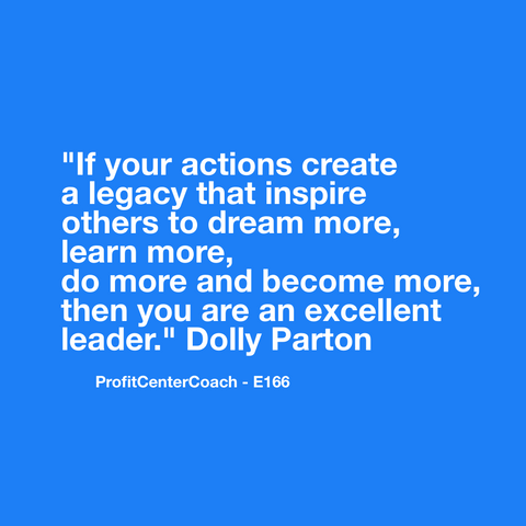 "E166 - Social Square 12"" x 12"" Inspirational Canvas Wall Hanging - ""If your actions create a legacy that inspire others to dream more, learn more, do more and become more, then you are an excellent leader."" Dolly Parton"